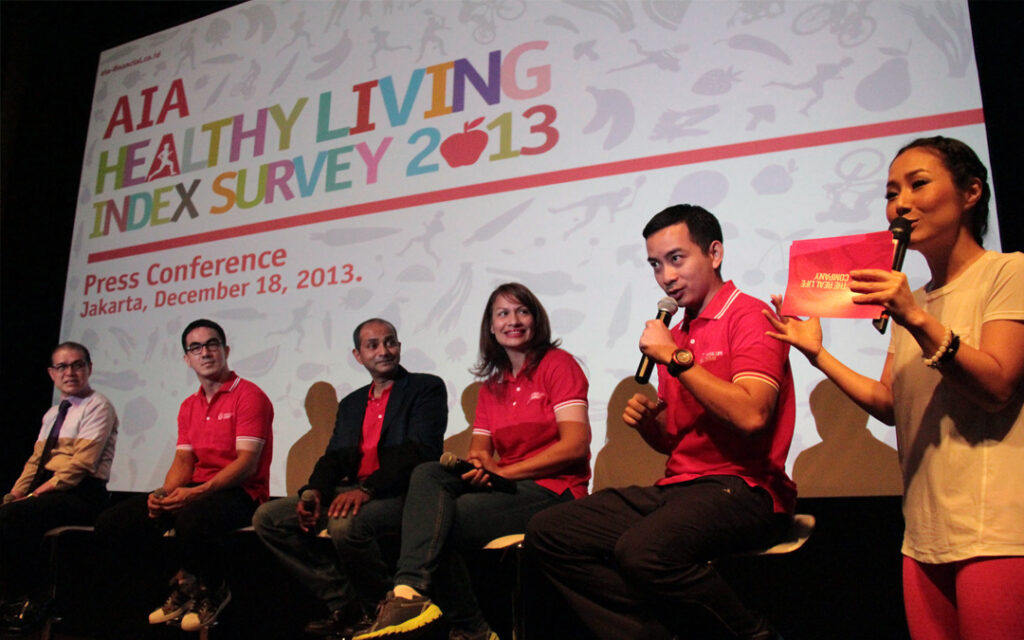 AIA Healthy Living Index Press Conference Jakarta 2013