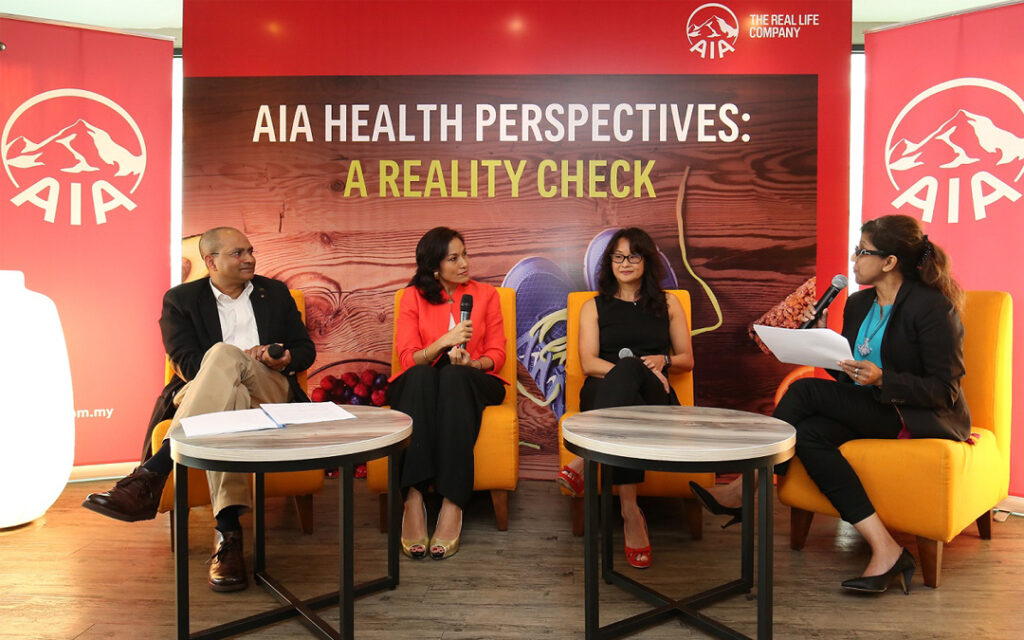 Panel discussing the health trends of Malaysians - AIA Event KL 2013
