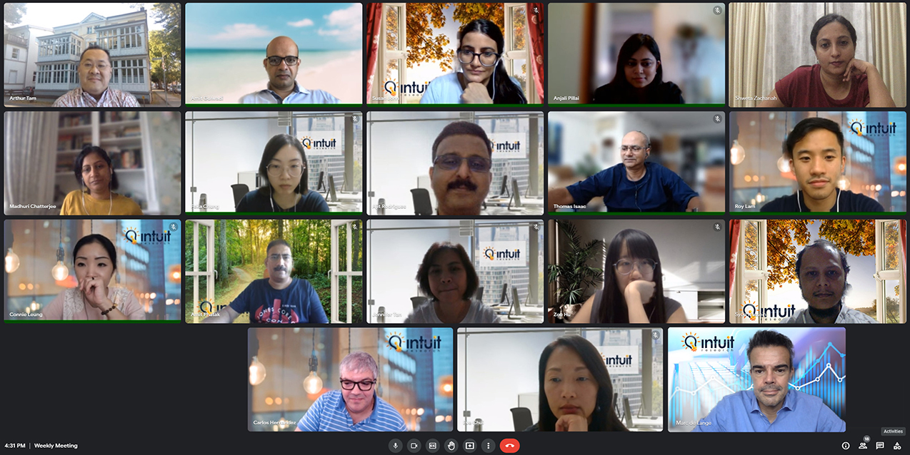 The Intuit team on a recent team call